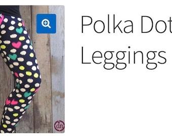 Women's Diva Polka Dot Party Leggings Du North