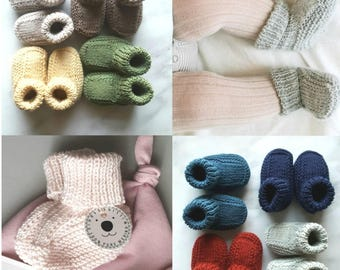 Pure merino booties size 0-6 months