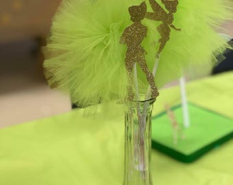Tinkerbell and peter pan centerpieces - set of 2