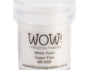 Wow-White Pearl-Embossing Powder Super Fine