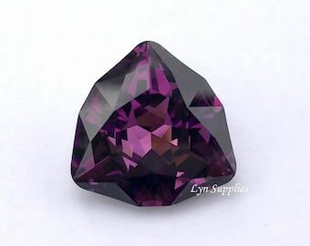 4706 AMETHYST 24mm Swarovski Crystal Trilliant Fancy Stone, Purple Triangle