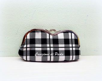Black White checkered Glasses