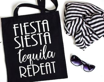 Fiesta Siesta Tequila Repeat, Fiesta Bachelorette, Nacho Average Bride, Bridal Party Bag, Bachelorette Bag, Bachelorette Party favor