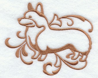 embroidered Hand towel - Pembroke Welsh Corgi   dog - classy canines series - many colors available