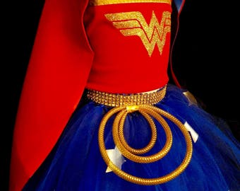 Girl Wonder Woman wonder woman wonder woman costume Wonder Woman outfit Wonder Woman birthday wonder woman cosplay wonder woman party