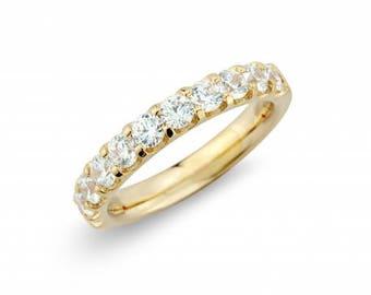 1.00ct Diamond 18ct Yellow Gold Eternity Band