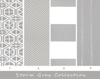Grey Curtains, White, Gray, Living Room, Bedroom, Drapery, Window Treatment, Panels, Window, Gray, Drapes, Decor, Striped, Curtains