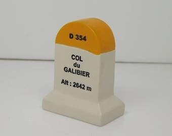 Col Du Galibier Km Marker Milestone Tour de France Mountains
