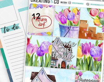 Home Sweet Home Weekly Planner Kit for No-White Space and White Space Planners  - WK10