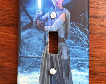 Star Wars light switch plate // The Last Jedi Rey