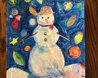 Snowman Painting