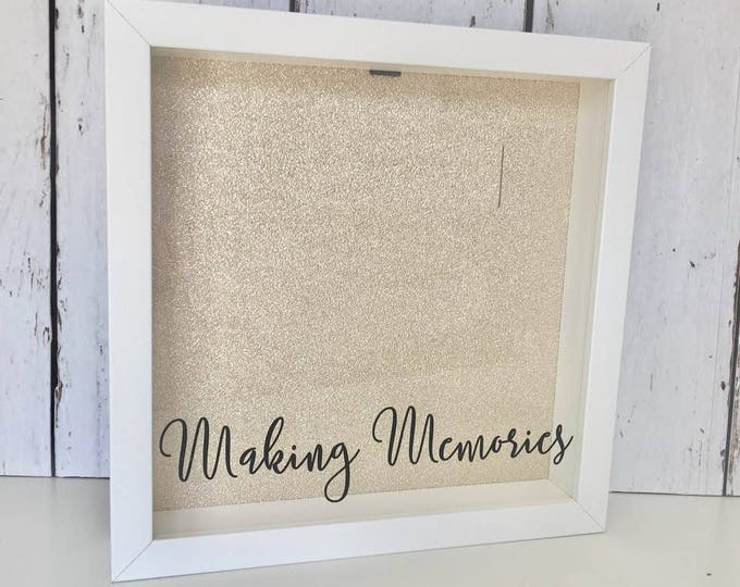 Featured listing image: Making Memories | Ticket Shadow Box | Memory Box | Shadow Box Ticket | Ticket Stub Box | Cinema Stub |Home Decor|Drop Box |Memory Shadow Box