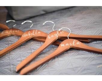 Wedding hanger, wedding hanger personalized, custom hanger, wedding dress, bridesmaid gift, custom made hanger, name on hanger, wood hanger