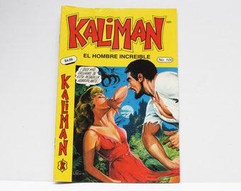Kaliman El Hombre Increible No 100 El Asesino Invisible y Faraon Sagrado Revista en Español Spanish Comic RARE