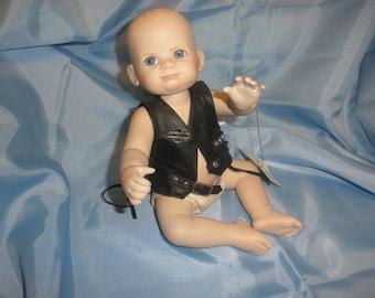 Harley Davidson Biker Doll Bobby Franklin Mint Porcelain