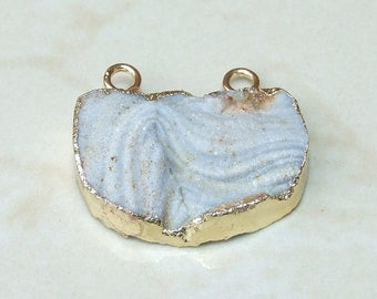 Galaxy Stone, Druzy Pendant, Quartz Druzy Pendant.  Agate Druzy Pendant - 20mm x 30mm - 177