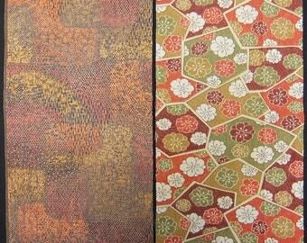 Vintage kimono fabric 2 pcs #7245