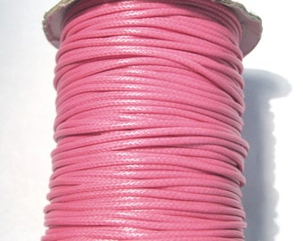 15ft Hot Pink Korea Wax Polyester Cord Bracelet Necklace Cord 2mm