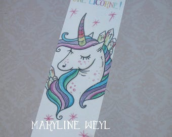"Bookmark ""Rainbow Unicorn"""
