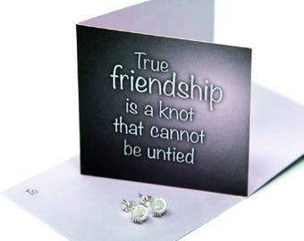 Friendship Knot Earrings, Sterling Silver earrings, Friendship Gift