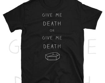 tumblr aesthetic, nu goth shirt, soft grunge shirt, pastel goth shirt, emo clothing, sarcastic tshirt, statement shirt, murdered out