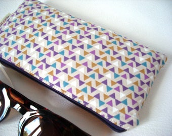 Padded glasses case cotton triangles