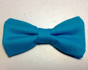 turquoise blue bow tie cotton teal bow ties for men wedding accessories groom ties groomsmen bow ties bowties pre tied clip on