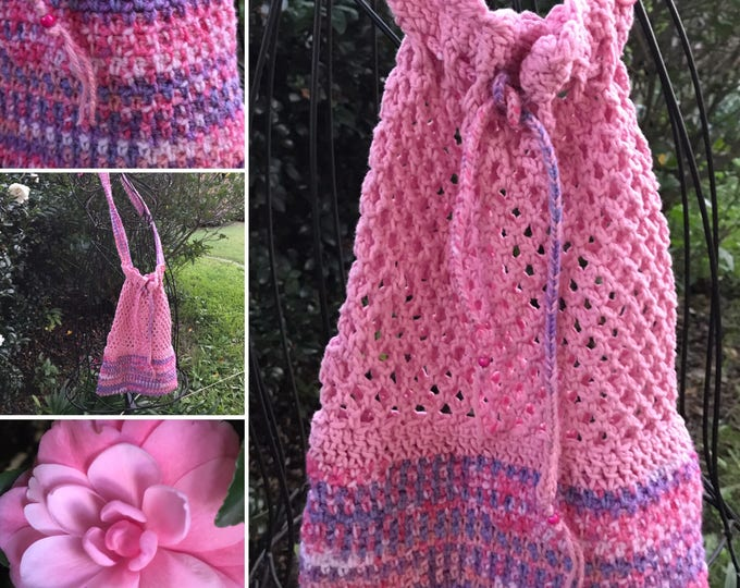 Pretty in Pink and Purple Market Bag