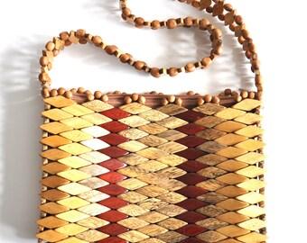 Vintage Wood Handbag