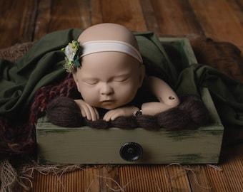 Industrial, Newborn crate, drawer, newborn props, photography props, vintage crate, rustic prop, antiqued prop, low newborn posing crate