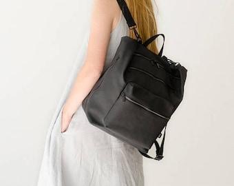 SALE 20.00 USD OFF Diaper bag, Backpack diaper bag,  Laptop Canvas backpack, Baby bag backpack, Black diaper bag, Convertible backpack, Stro