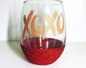Valentines Day Wine Glass