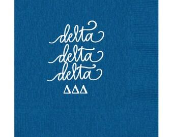 Delta Delta Delta  Luncheon Napkins (Qty 25)