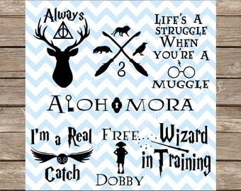 Harry Potter svg, Hogwarts svg, Hogwarts, Harry Potter svg files, SVG Bundle Pack, Quidditch, Gryffindor, Hufflepuff, Ravenclaw Slythern svg