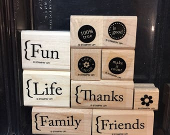 Stampin' Up! Make It Count complete rubber stamp set of 10.