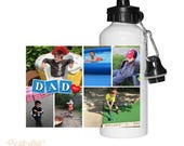 Personalized Dad Block Photo Water Bottle