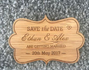 Save the Date Fridge Magnet - Classic