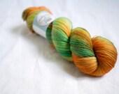 Hand Dyed 100% Merino Superwash Lace Weight Yarn - 2ply - 100 grams - 1200m/1312yards - Calendula