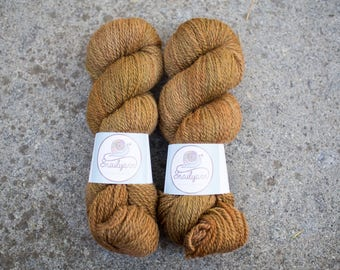 Hand dyed natural Bluefaced Leicester and Masham yarn - 100 grams - 240m/262 yards - Terra Bruciata