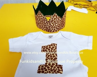 Safari Birthday Outfit- Little Tarzan  Birthday outfit - Jungle  Shirt Birthday Party Outfit- First Birthday Outfit Boy and Girl
