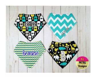 Boys Bandana Bibs•Personalized Bandana Bibs•Baby Boy Gifts•Boy Baby Shower Gifts•Guitar Bibs•Animal Bibs•Chevron•Baby Boy Accessories