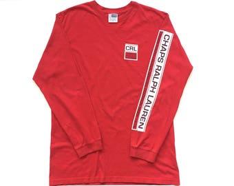 90s Chaps Ralph Lauren big logo spell out long sleeve sweatshirt size Large