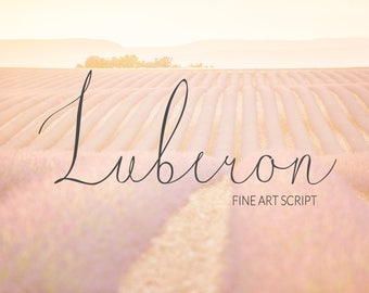 Luberon. original FINE ART typeface. Handwritten typeface. Calligraphy font. Get this downloadable font, perfect for wedding.