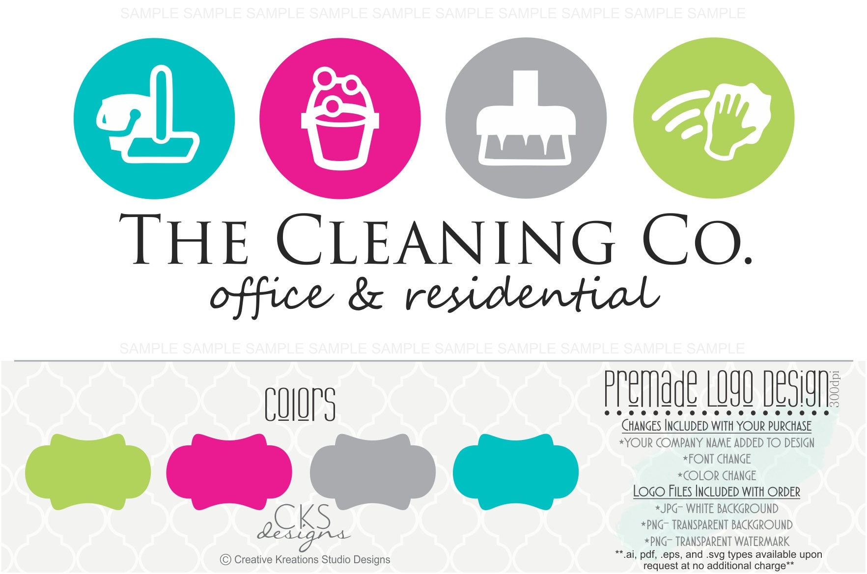 premade logo  u0026 watermark cleaning service logo house cleaning