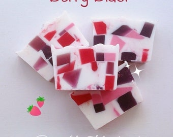 Berry scented soap bar, Summer berry scent, Handmade soap, Fruity soap, Bath care, Bath products