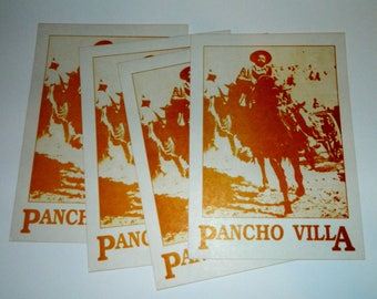 "Pancho Villa print - Card Stock - 4""x7"" - Genuine Mexican Product"