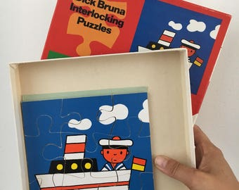 Vintage wooden puzzles Miffy