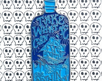 Rum Bottle Pirates Enamel Pin