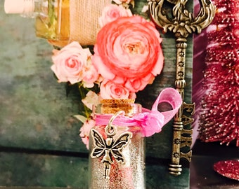 Fairy wishes Bottle with Magical Fairy key
