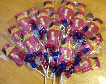 Graduate boy/girl chocolate lollipops